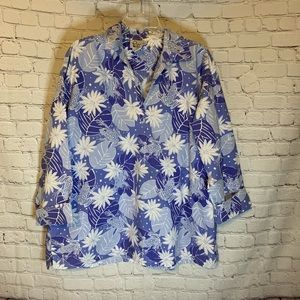 Lily Pulitzer blue floral tunic, XL